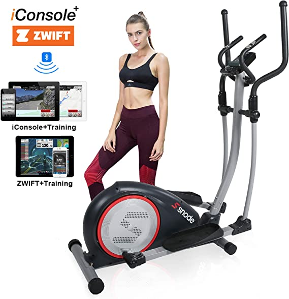 SNODE Elliptical Machine - Electric Elliptical Equipment with Free iConsole+ App Via Bluetooth