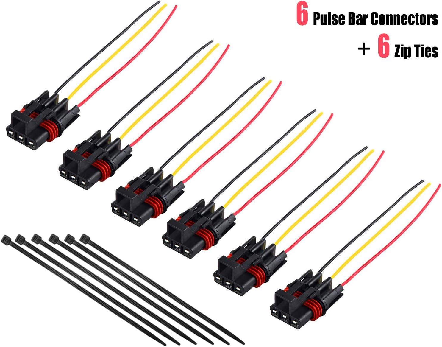 Amazon.com: UNIGT Pulse Power Plug Connector Pigtail Compatible with Polaris  RZR/Pro Ranger XP 1000 RS1 General Pulse Bus Bar Power Harness Connector 6  Pack - 2018-2021: AutomotiveAmazon.com