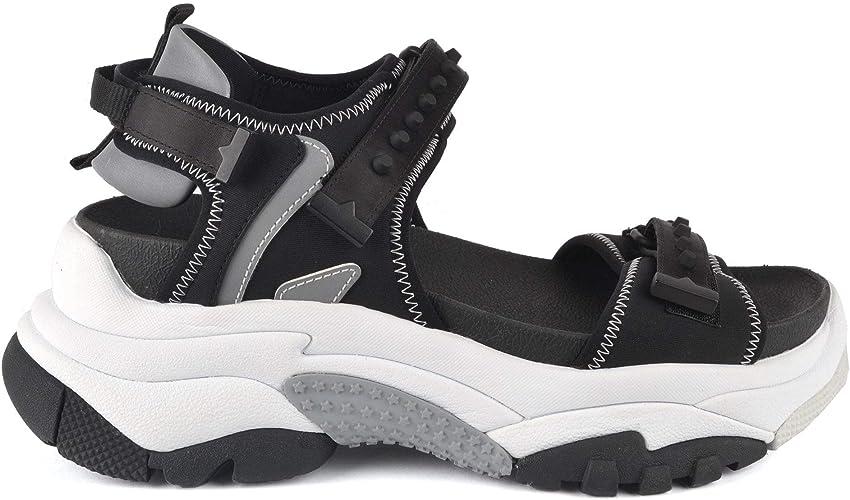 Ash Adapt Trainer Sandals Black Satin 5