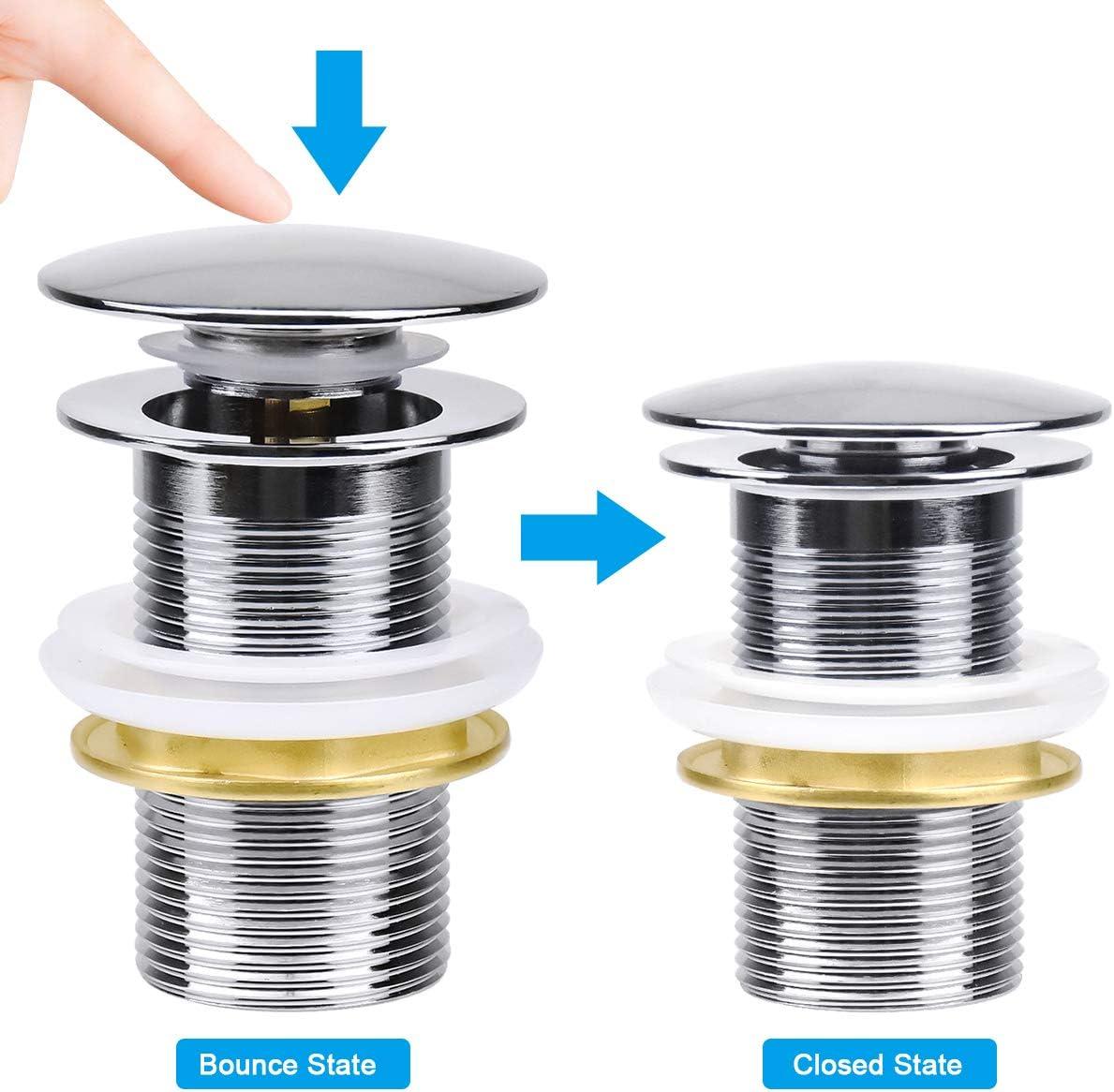 Ibergrif M20502 Chrom Universal Ablaufgarnitur POP UP Ventil f/ür Waschbecken