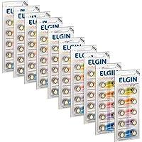 100 Pilhas Baterias LR1130 LR54 AG10 Alcalina Elgin 10 Cartelas C/ 10 Unidades
