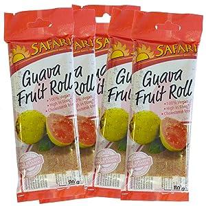 Safari Fruit Rolls Guava 80gram (3 Pack)