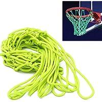 ETCBUYS Red de Baloncesto Que Brilla en la Oscuridad - Accesorios de Malla y Baloncesto al Aire Libre, tamaño estándar para Redes de Tablero de Baloncesto para Exteriores.