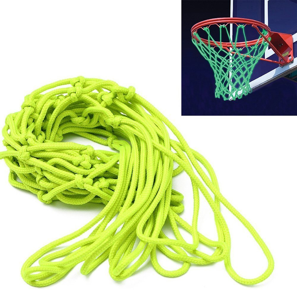 ETCBUYS Glow in The Dark Basketball Net Outdoor Net and Basketball Hoop Accessories Standard Regulation Size for Outside Basketball Rims Kids Backboard and Rim