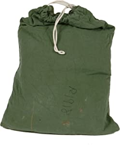 Military Outdoor Clothing Previously Issued US GI OD Green Cotton Laundry (Barracks) Bag