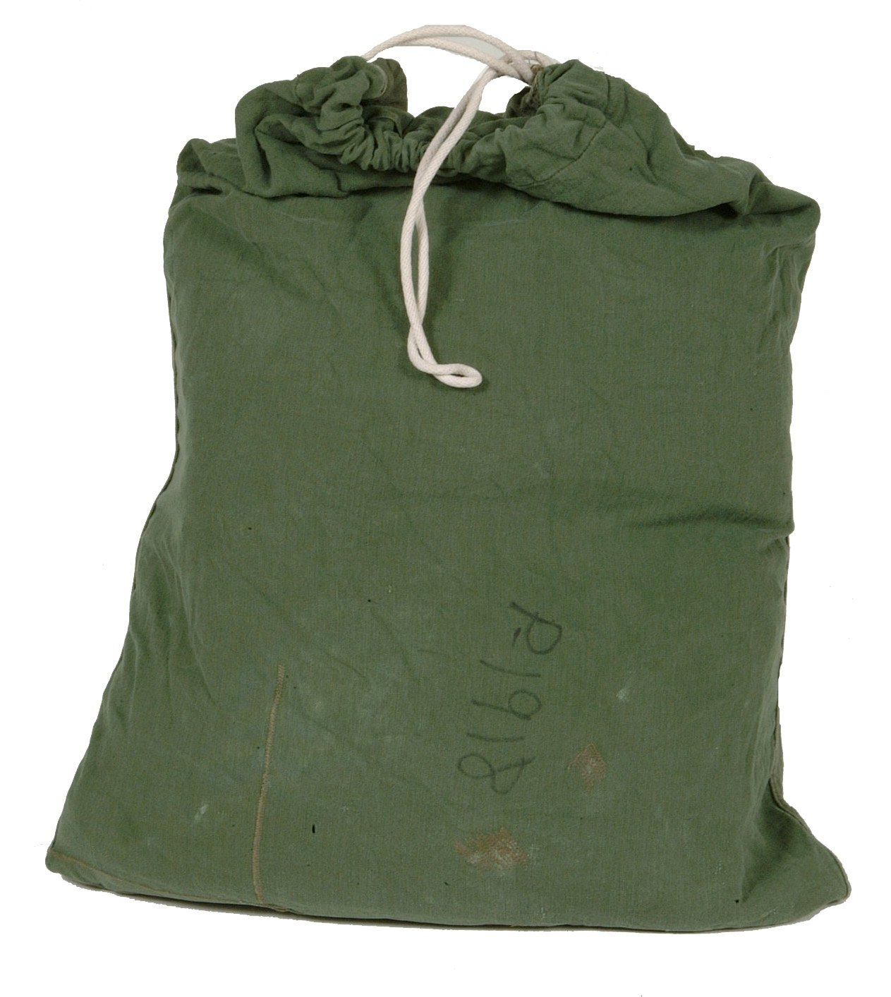 Military Outdoor Clothing Previously Issued US GI OD Green Cotton Laundry Barracks Bag
