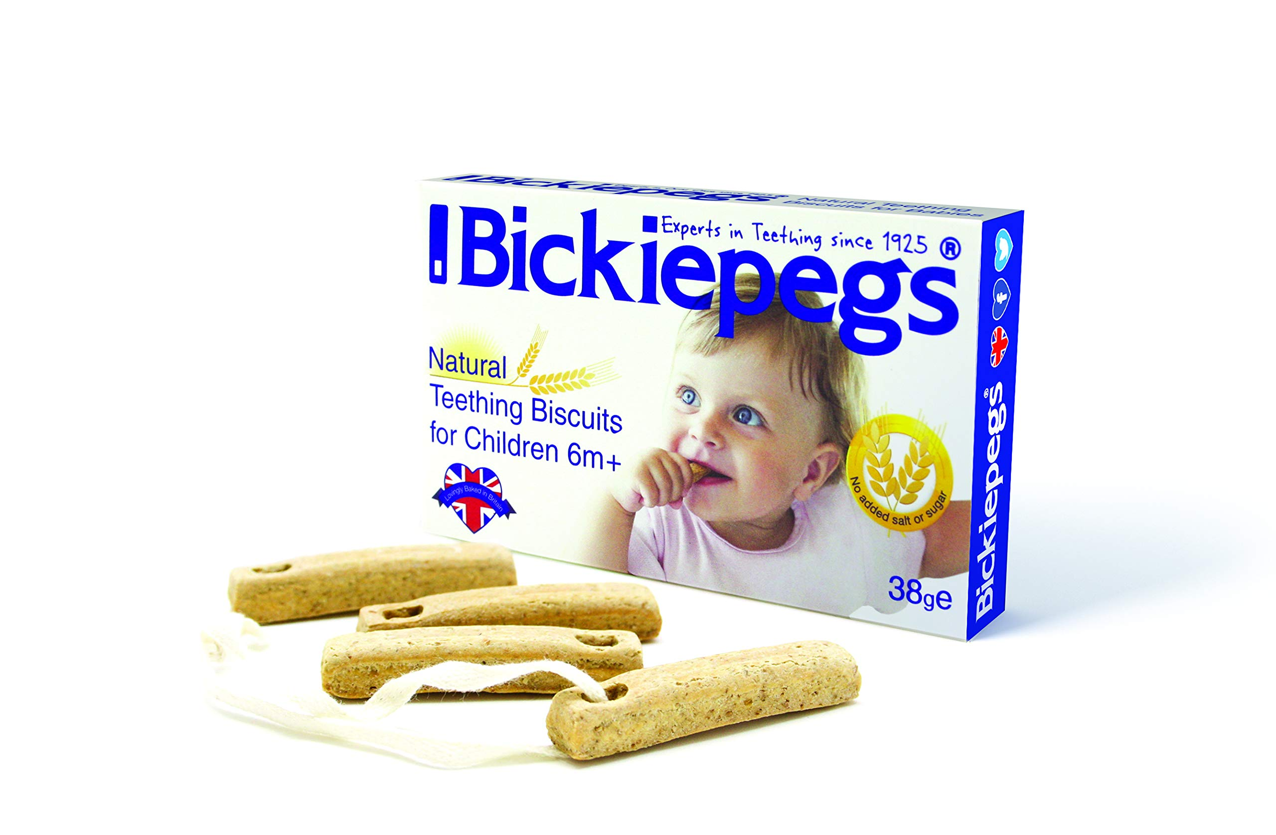 Bickiepegs Teething Biscuits 38g x 3 Packs