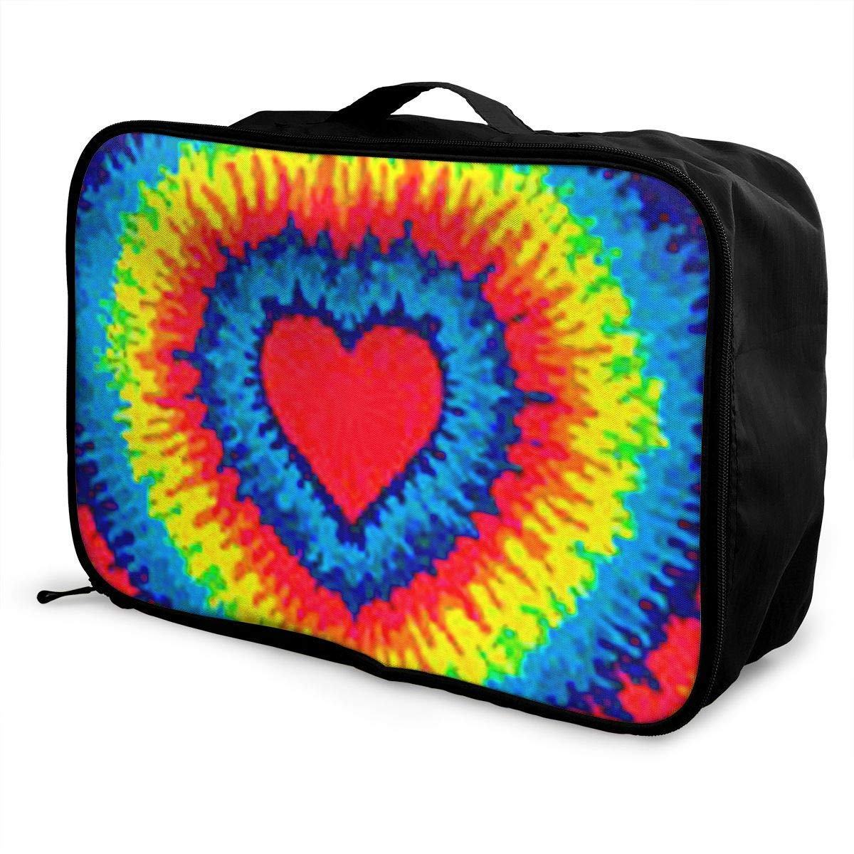 Portable Luggage Duffel Bag Tie Dye Travel Bags Carry-on in Trolley Handle JTRVW Luggage Bags for Travel