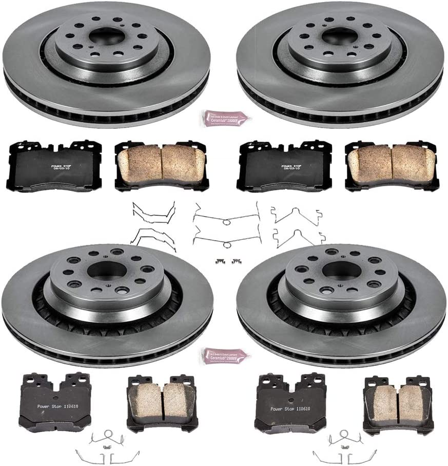 KOE4113 Autospecialty Daily Driver OE Brake Kit Front and Rear