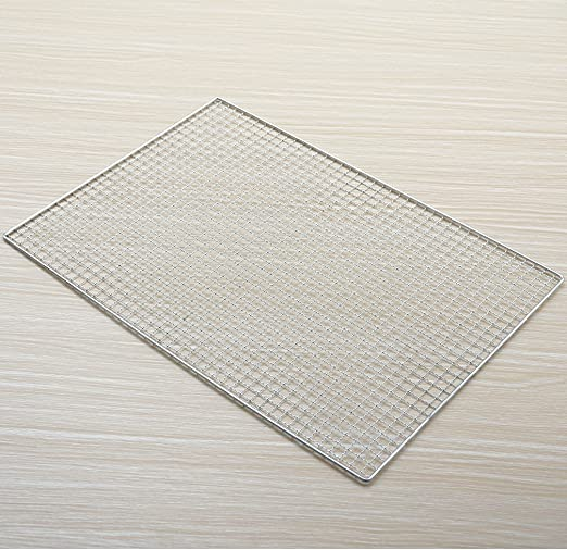 Huaxiong Grille rectangulaire en acier inoxydable pour barbecue 50cX30c cm rectangle Argent