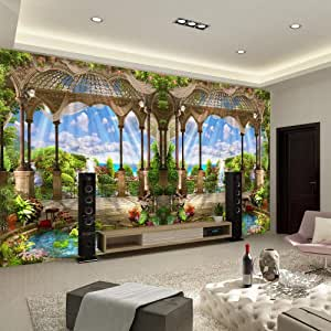 ورق جدران منظر طبيعي لتزيين الغرفة - غرفة المعيشة ثلاثية الأبعاد