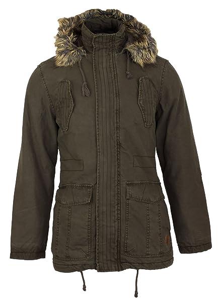 Para hombre New para la ropa sucia Portia Tokyo para el cuello con forro de pelo con capucha para abrigos Parka embudo de acero inoxidable para: Amazon.es: ...