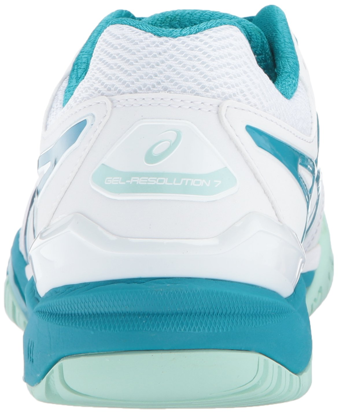 ASICS Women's Gel-Resolution 7 B(M) Tennis Shoe B01MZ6VMYQ 6 B(M) 7 US|White/Arctic Aqua/Glacier Sea 97b0ee