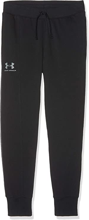 Under Armour Boys' Rival Blocked Joggers, Black (001)/Steel, Youth Large