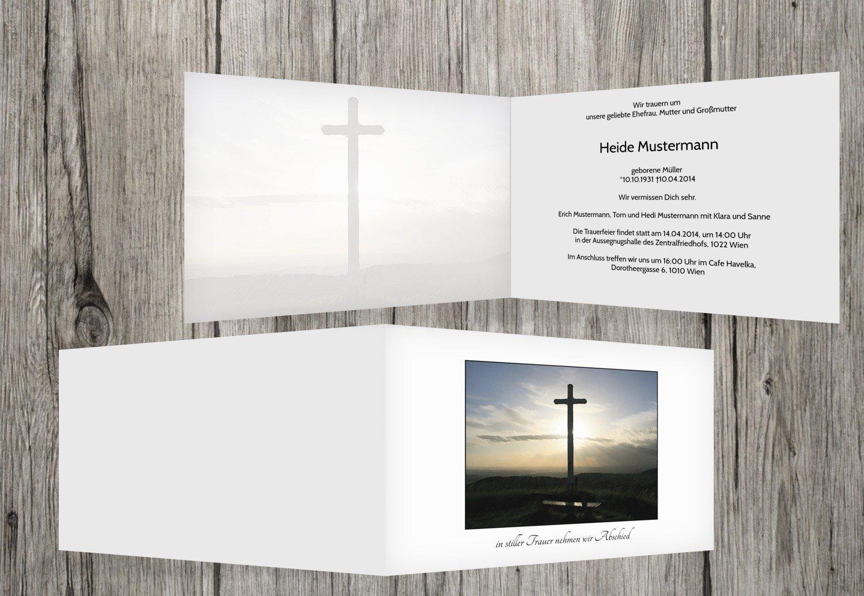 Tarjeta de luto Cruz, Weiszlig;, 40 Karten
