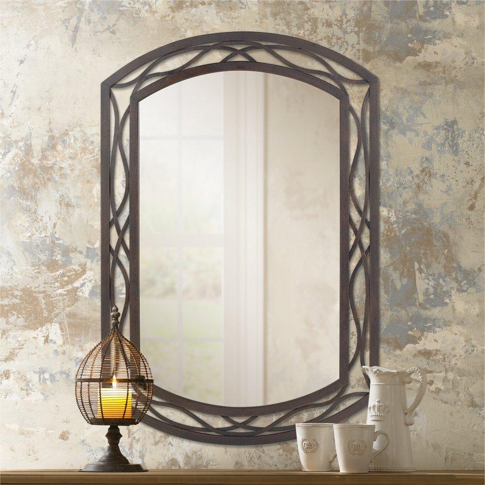 "Woven Bronze Metal 24"" x 35 1/2"" Wall Mirror"