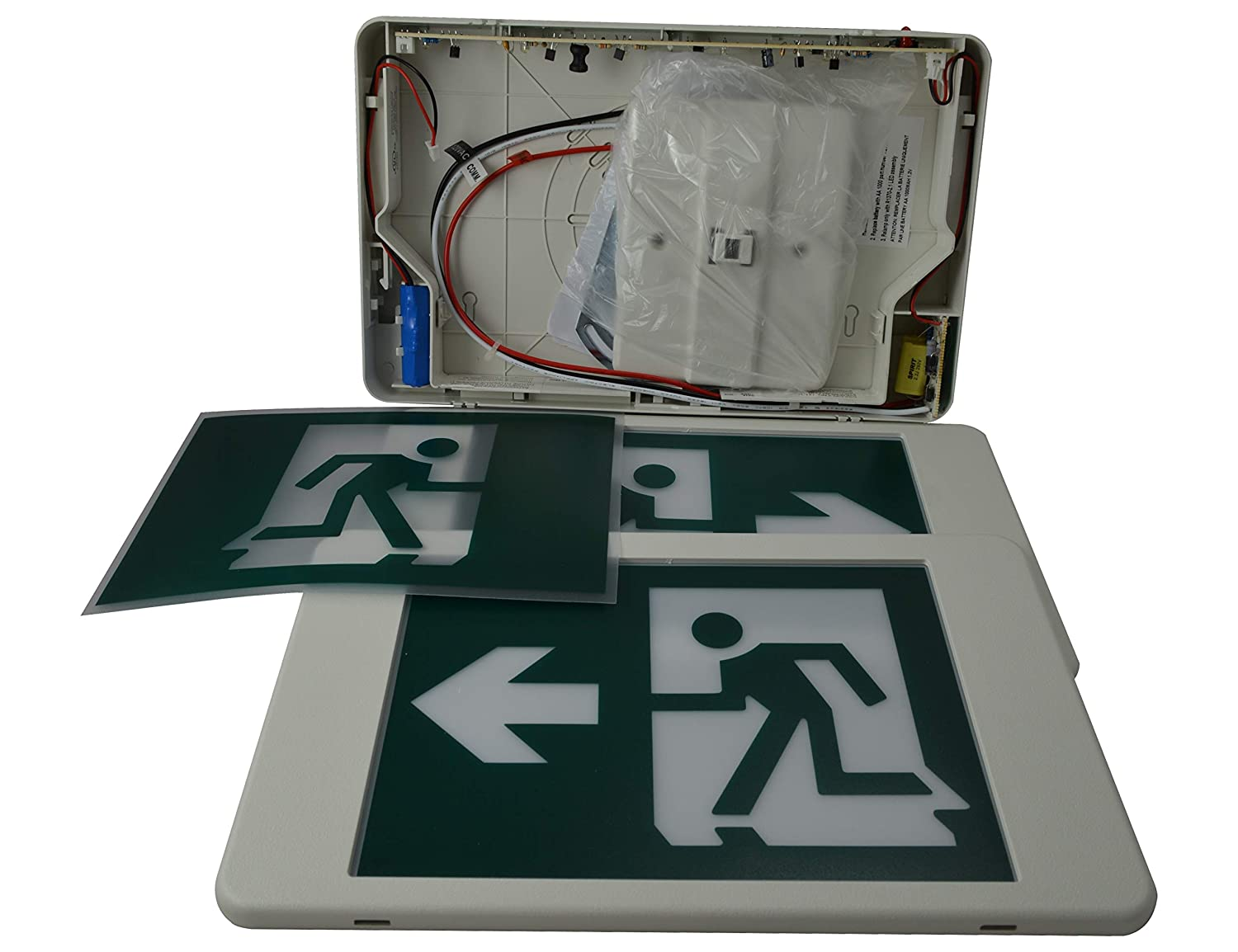 M T C Canada LED Steel Running Man EXIT Sign Combo CSA