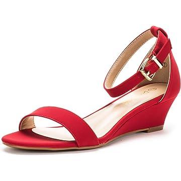 789f212b6 DREAM PAIRS Women s Ingrid Ankle Strap Low Wedge Sandal