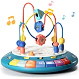 Bump and Go Baby Girl Boy Toys 6 to 12-18 Months Musical Bead Maze Einstein Learning Toys for Toddlers 1-3 Preschool…