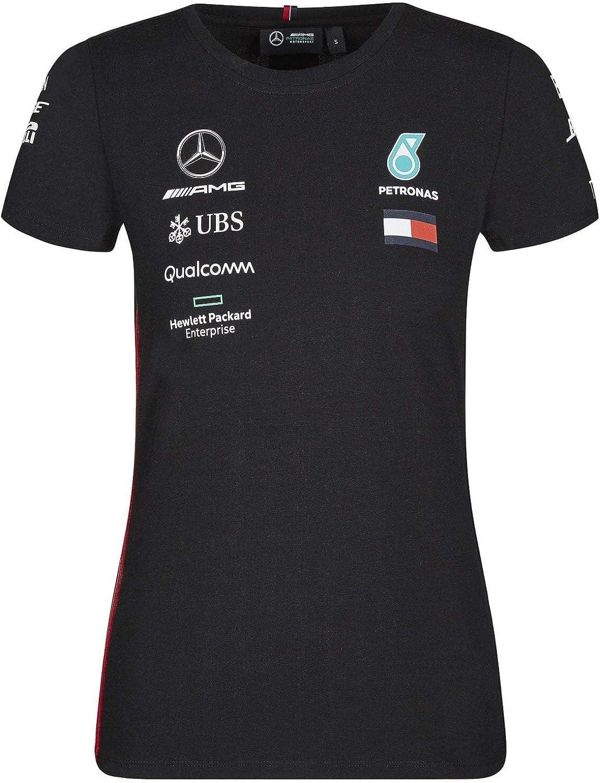 Mercedes AMG Petronas Motorsport 2019 F1 Womens Driver T-Shirt XXS Black