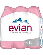 Evian Eau Minérale Naturelle Bouteille 6 x 1 L