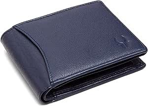 NOBILITY RFID Protected Premium Mens Leather Wallet - Denim Blue