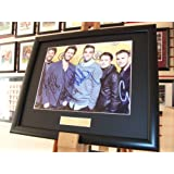Take That Signed Autograph Memorabilia framed photo NEW x 5 members
