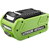 [1Pack] Upgraded 40V 6.0Ah Replacement Battery for GreenWorks 29472 29462 Battery Lithium 40V G-MAX Power Tools 29252 20202 2