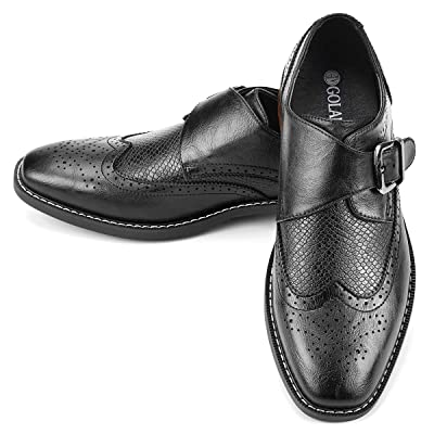 Men's Monk Strap Dress Shoes Buckle Loafers | Loafers & Slip-Ons