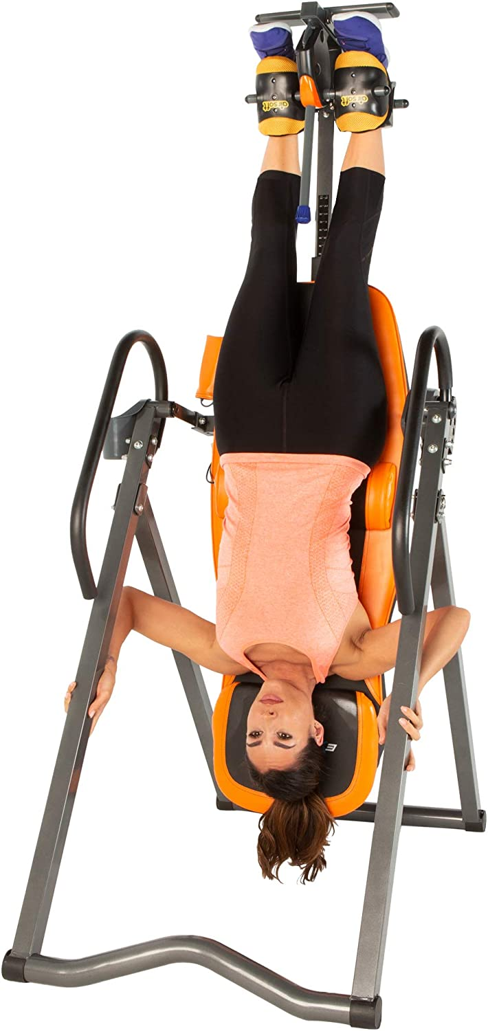 Exerpeutic 475SL Inversion Table with AIRSOFT No Pinch Ankle ...