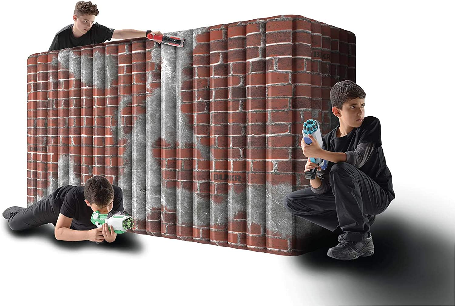X-Shot /& Boomco Laser X BUNKR BattleZone Inflatable MEGA Wall Compatible with Nerf