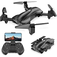 Holy Stone GPS Drone FPV Drones with Camera for Adults 1080P HD Live Video, Foldable Drone for Beginners, RC Quadcopter with GPS Return Home, Follow Me, Altitude Hold and 5G WiFi Transmission, HS165