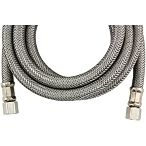 Certified Appliance Accessories Braided Stainless Steel Ice Maker Connector, 6ft