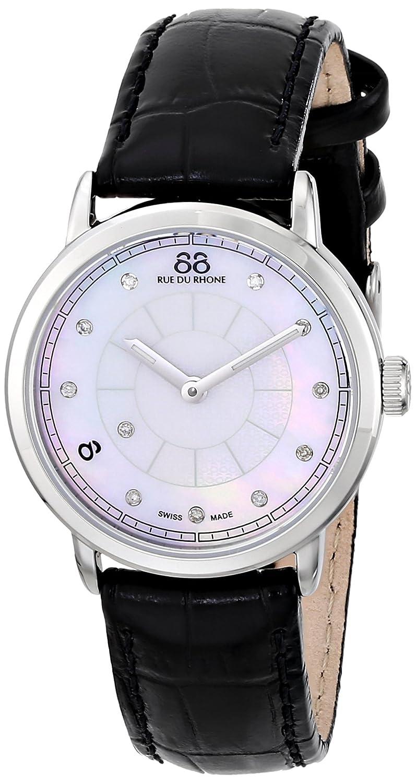 Amazon.com: 88 Rue du Rhone Womens 87WA120004 Analog Display Swiss Quartz Black Watch: 88 Rue Du Rhone: Watches
