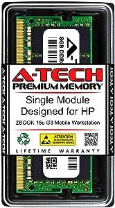 A-Tech 8GB RAM for HP ZBOOK 15U G3 Mobile Workstation | DDR4 2133MHz SODIMM PC4-17000 260-Pin Non-ECC Memory Upgrade Module