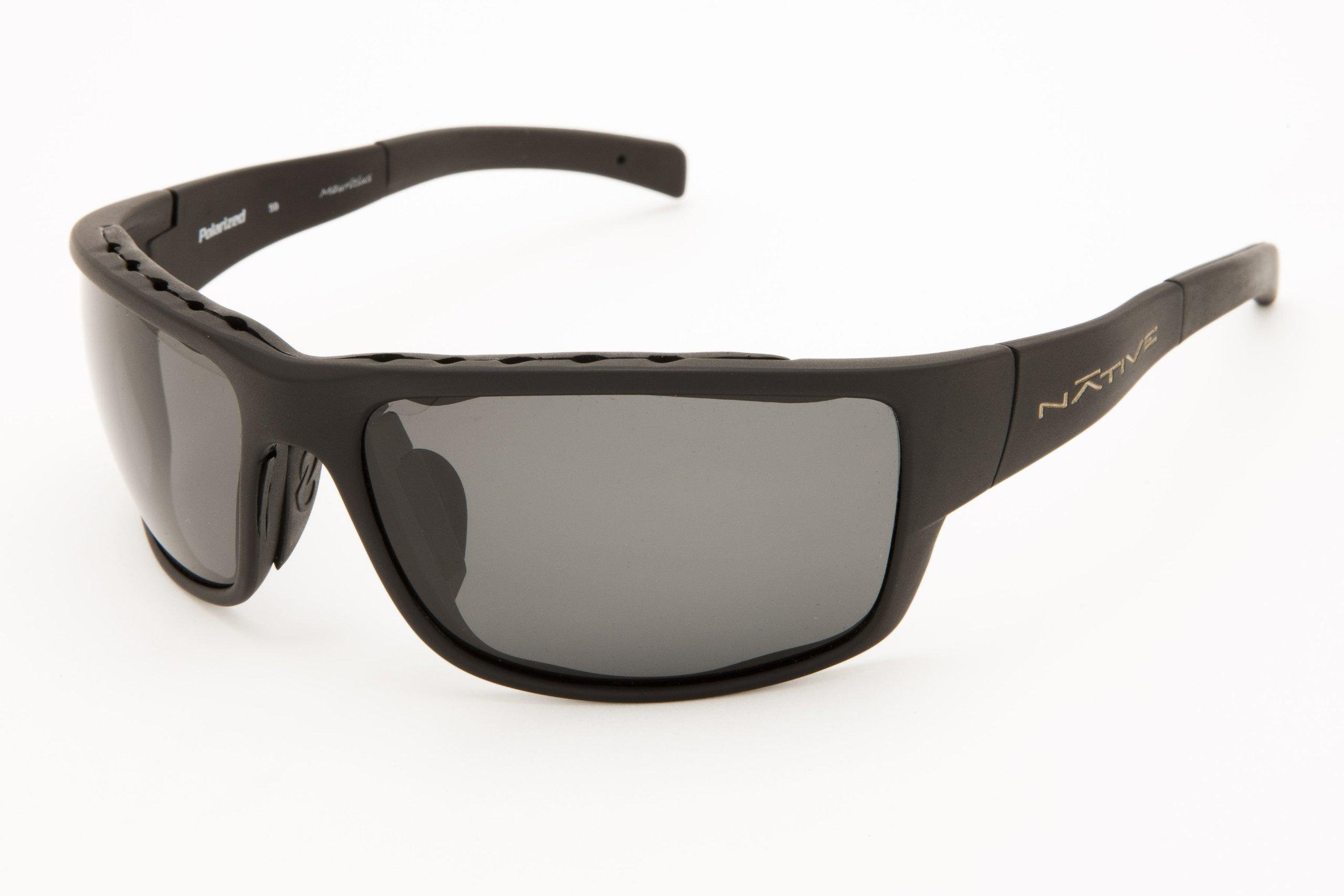 Native Eyewear Cable Sunglasses, Asphalt with Gray Lens