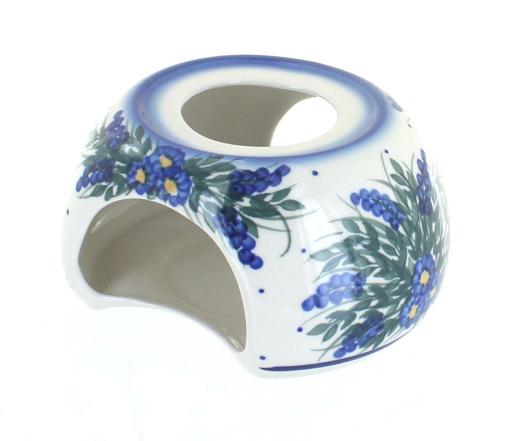Blue Rose Polish Pottery Hyacinth Teapot Warmer
