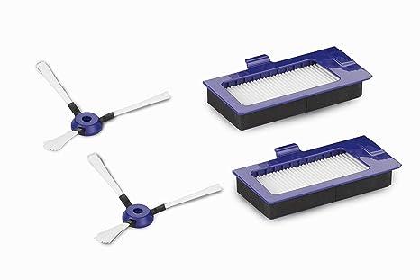 Rowenta ZR7101ES - Pack de 2 cepillos laterales y 4 filtros, accesorios para smart force