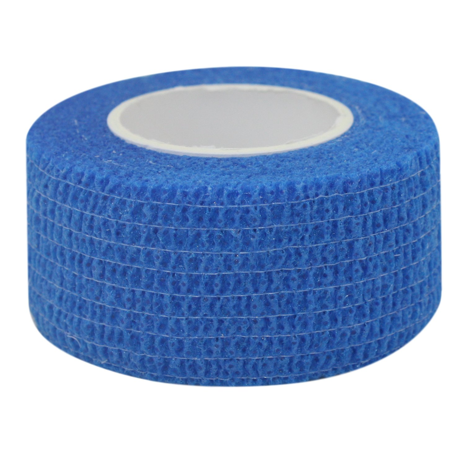 COMOmed Self Stick Cohesive Bandage Latex FDA Approved 1''x5 Yards First Aid Ace Bandages Stretch Sport Wrap Vet Tape for Wrist Ankle Sprain and Swelling,Blue
