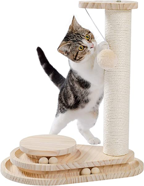 Luxury personalized cat scratcher different colors of wood 20 metrs of rope personalized wooden cat scratching post cat toy personalized