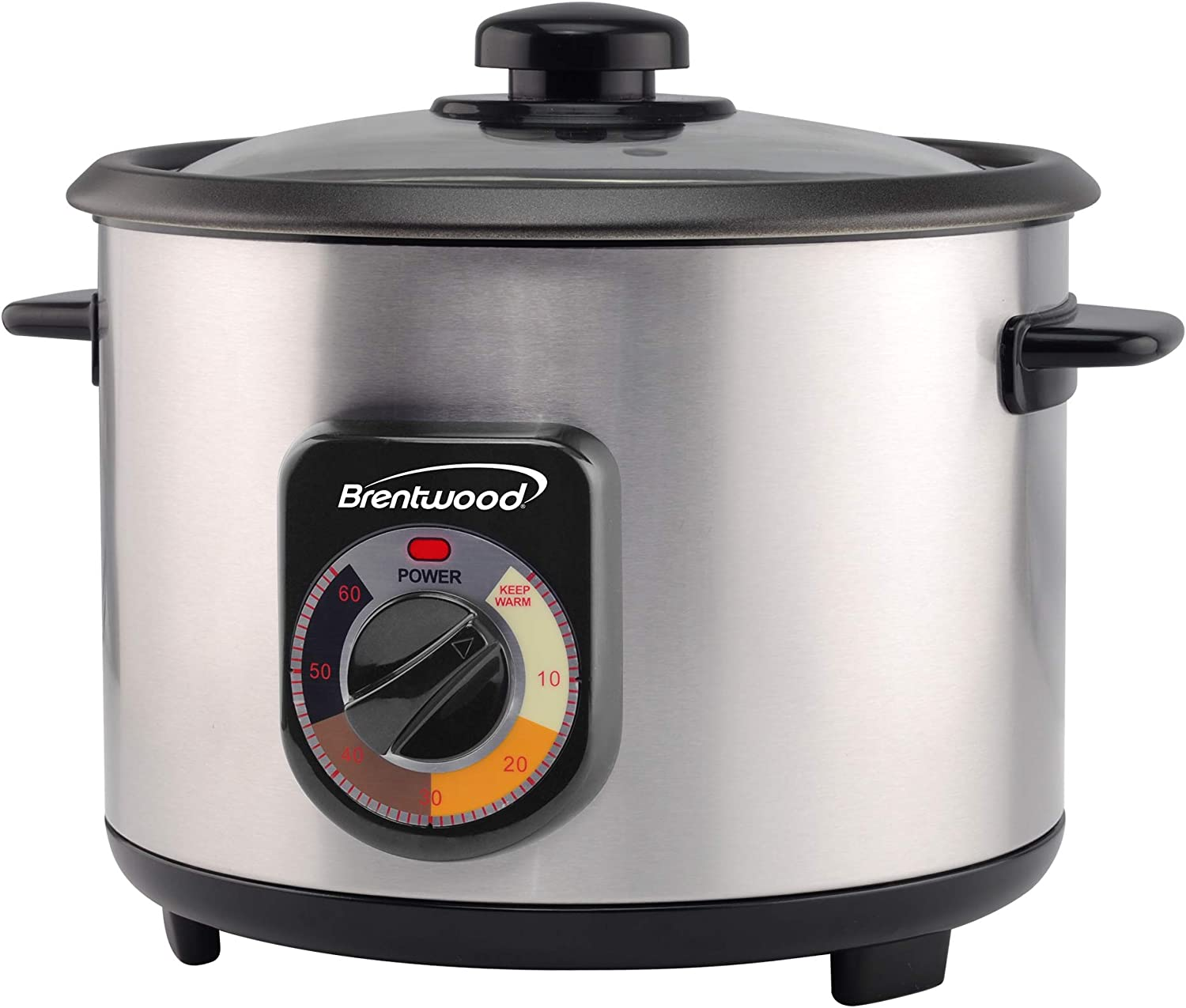 Brentwood Crunchy Persian Rice Cooker, Stainless Steel (8-Cup Uncooked/16-Cup Cooke)