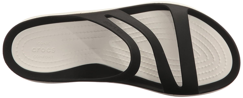 Sandali Crocs per donna in gomma bianca nera e bianca gomma Nero (Black/White) e8225b