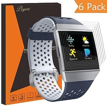 Fitbit Ionic Protector de pantalla [6 pcs], PEMOTech HD ...