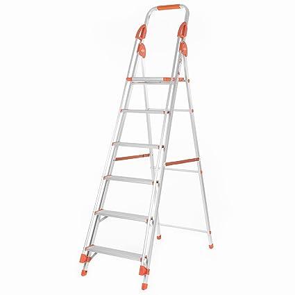 Bathla Sure Step Titanium - 152 cm (5 ft.) Foldable Aluminium Ladder with Support Hand Rails & 5-Year Warranty