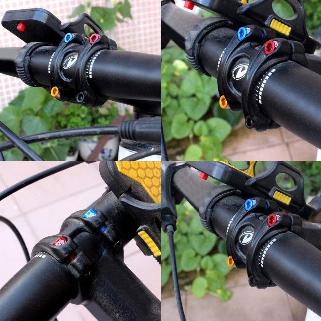 SGerste 4x Rust-Resistance MTB Road Mountain Bike Bicycle Headset Stem Bolts Screws-Black