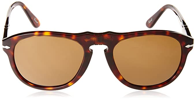 15957ff629d6 Amazon.com: Persol Men's 0PO0649 24/57 Polarized Round Sunglasses,Havana/Crystal  Brown Polarized Lens,52 mm: Persol: Clothing