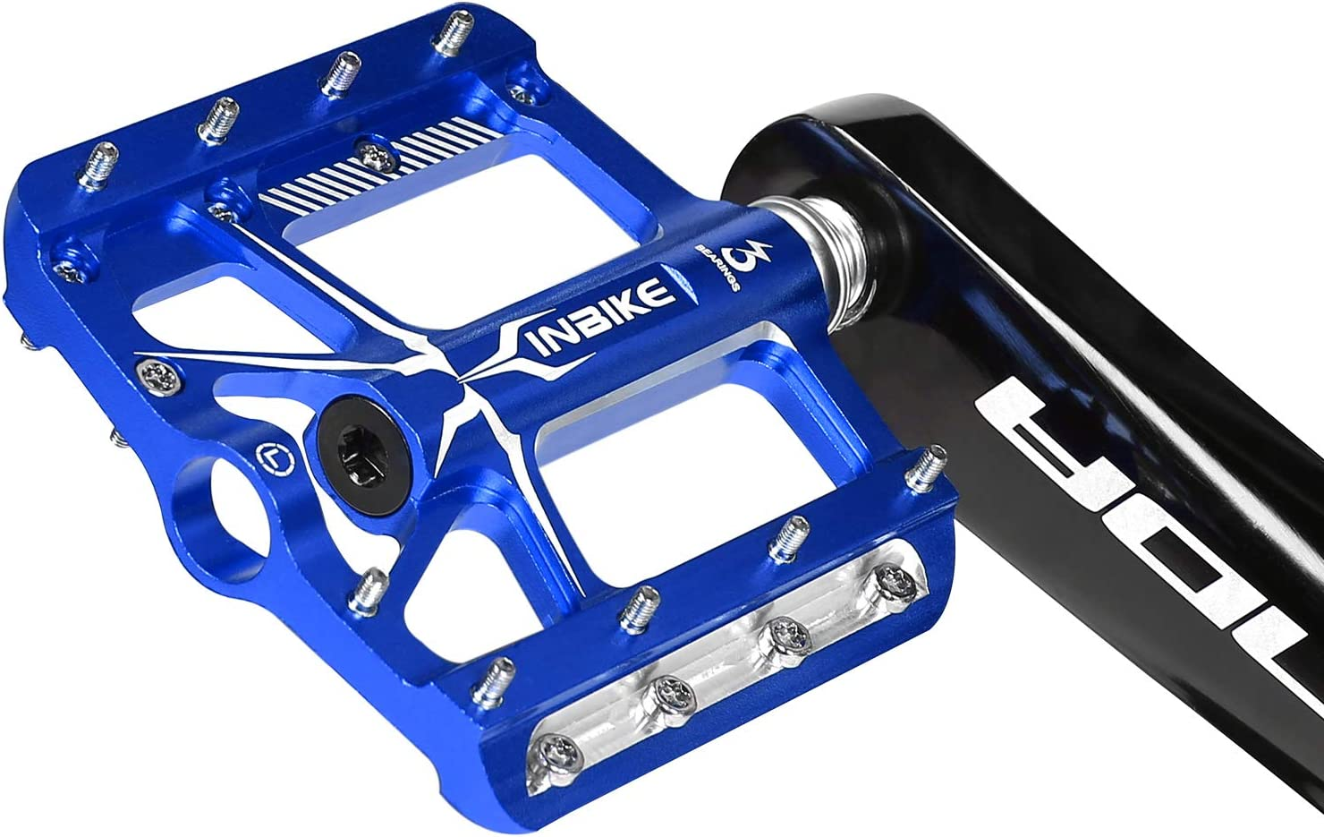 Pedales Plataforma De Aluminio con Rodamiento 9//16 para Bicicleta De Monta/ña Bicicleta De Carretera INBIKE Pedales Antideslizante De MTB Bicicleta