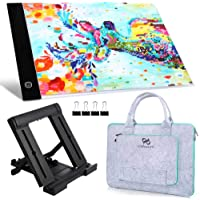 PP OPOUNT Diamond Painting A4 5D LED Light Pad Set Including Polyester Felt Hand Held Case Bag, A4 LED Light Pad, Stand…