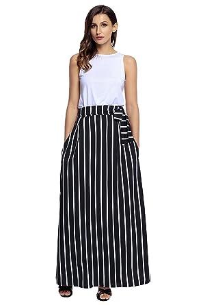 Striped Maxi Skirt