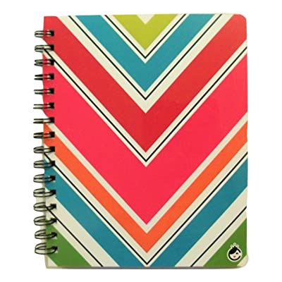 Studio C Carolina Pad The Sugarland Collection College Ruled 3-Subject Poly Cover Ideal Book (Colorful Chevrons, 6.5 Inches x 8.75 Inches, 120 Sheets, 240 Pages): Toys & Games